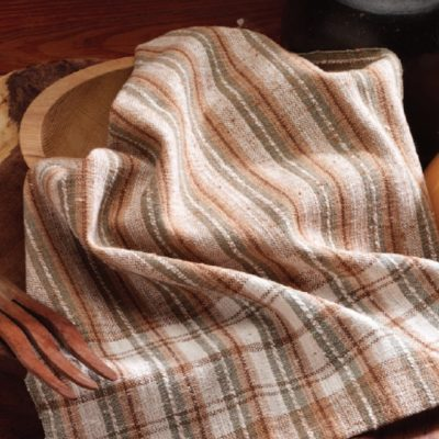 The Spinning Natural Colored Cotton for Dish Towels article is featured in our free All About Spinning Cotton eBook. The article gives directions to complete this cotton dish towel pattern.