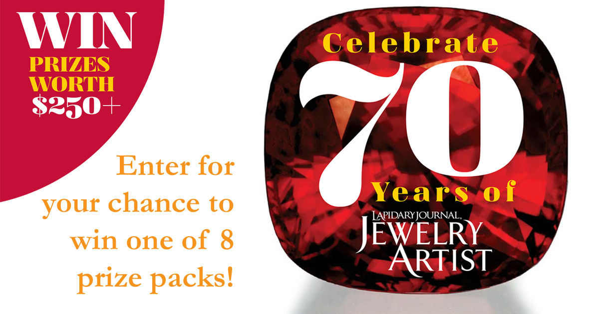 Enter the Jewelry Artist 70th Anniversary Milestones Giveaway