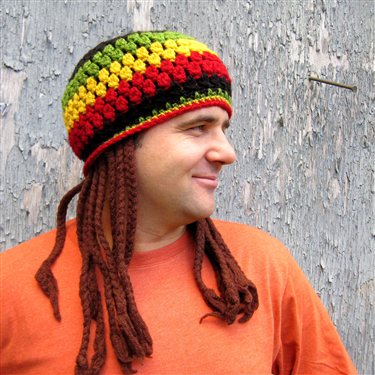 Jamaican Hat With Fake Dreadlocks Crochet Pattern Interweave