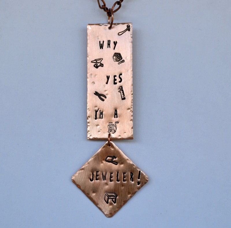 jewelry tools metal stamps project by Jeff Fulkerson