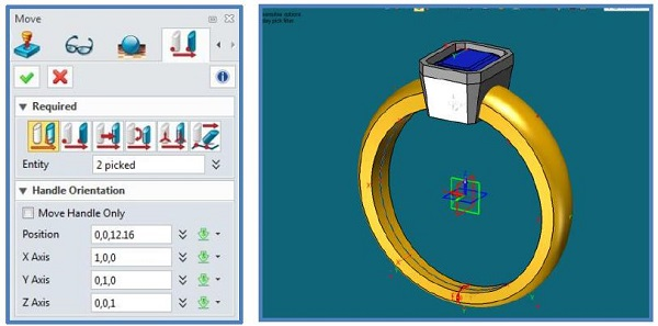 design a ring with a gemstone with a few mouse clicks using CAD jewelry design