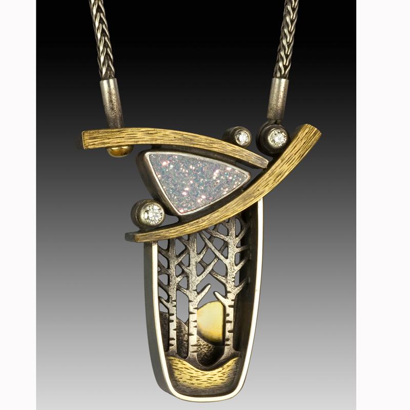 Winter Sunrise by jewelry artist Suzanne Williams