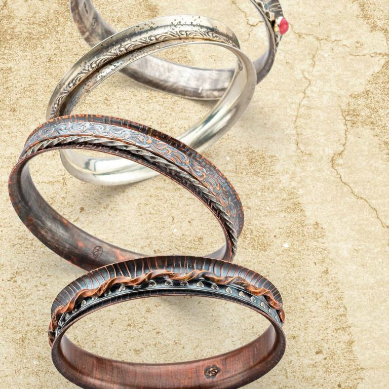 """Jeff Fulkerson's """"Put a Spin on It"""" project appeared in the July/August 2018 Lapidary Journal Jewelry Artist; photo: Jim Lawson"""