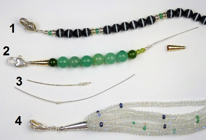 jewelry findings: finishing the ends of strung beads and pearls with better crimps