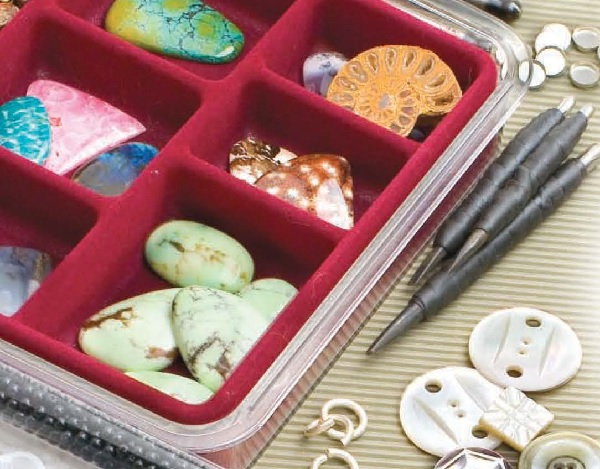 jewelry-making supplies storage