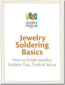 Learn the basics of soldering in our free How to Solder Jewelry eBook.