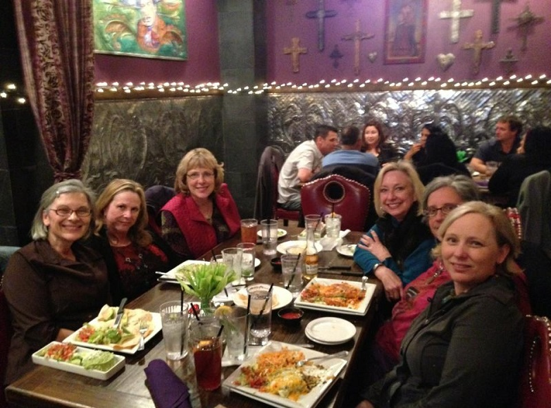 Some of our favorite jewelry teachers having dinner and catching up at the Tucson gem shows.