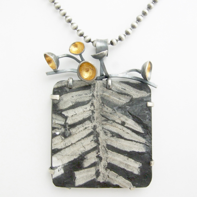 jewelry trends: statement pendant designed by Lesley McKeown
