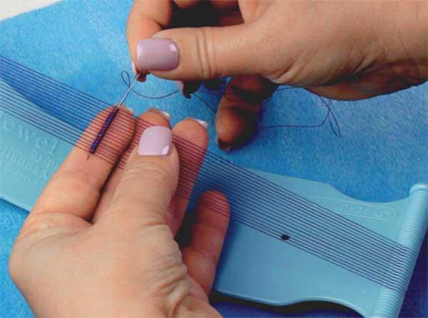 Jewel Loom with Jewel beading on the loom