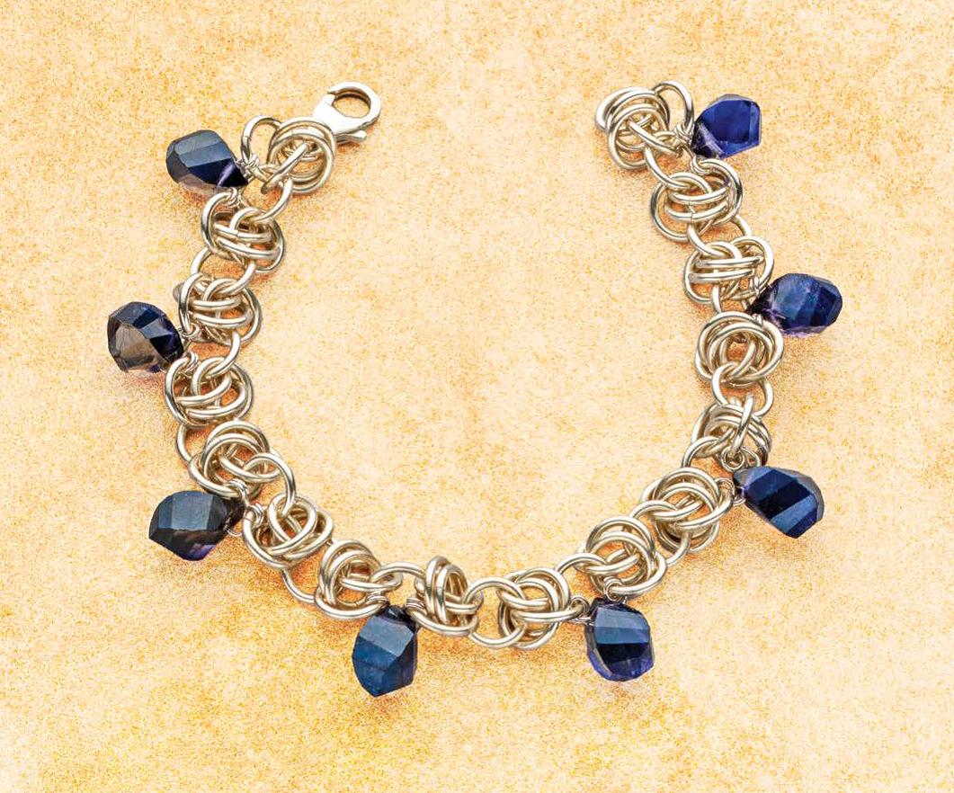 Kylie Jones iolite chain maille bracelet. Photo: Jim Lawson