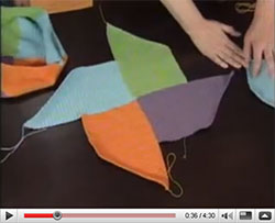 Watch Kim and me fooling around with the Swirling Bag on Knitting Daily TV