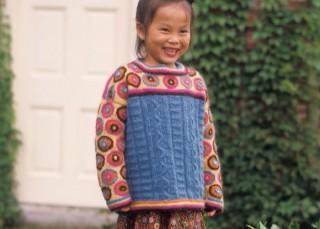 Kids Sweater Knitting Pattern: Stop-Traffic Circles by Kristin Nicholas