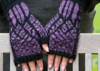 Winter fingerless gloves knits
