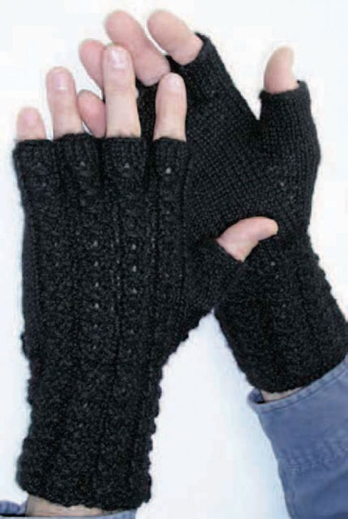 Don't miss this knitted fingerless glove pattern found in our FREE knitting for men eBook.