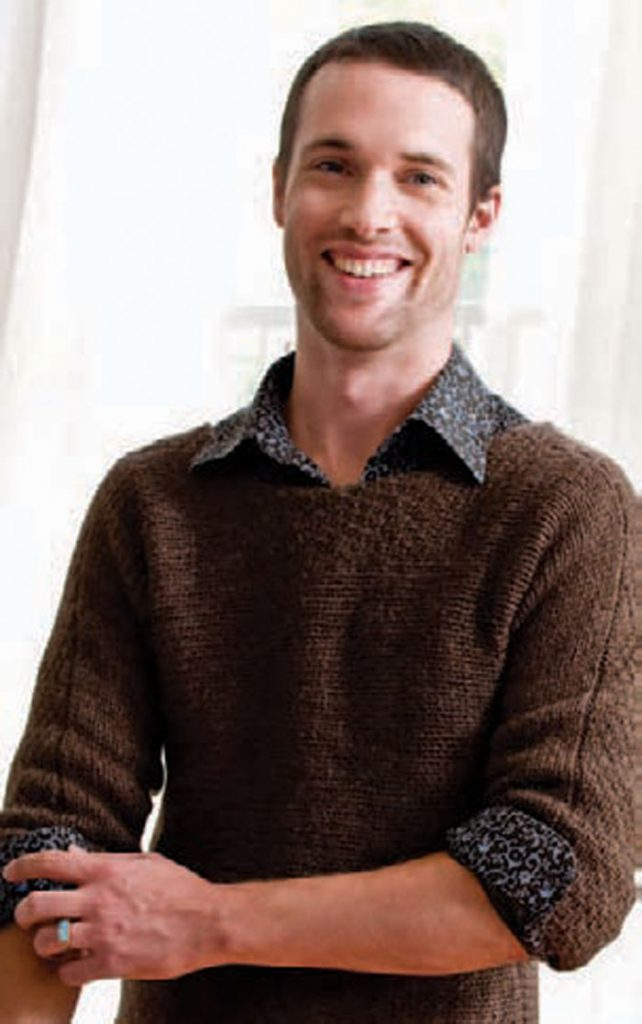 our guy will adore this knitted pullover found in this FREE knitting for men eBook.