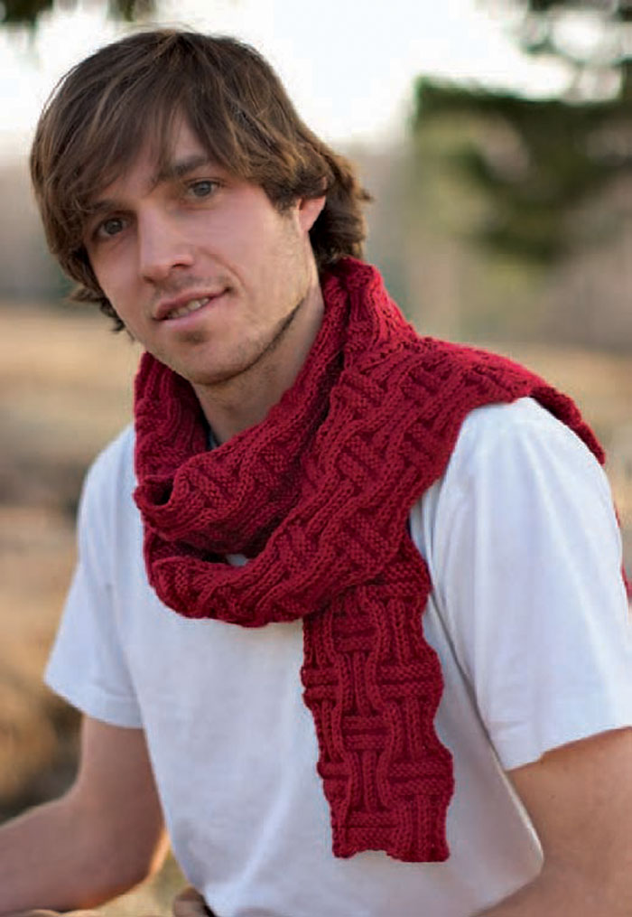 If your guy likes knitted scarves, then he'll LOVE this free scarf knitting pattern in this knitting for men eBook.