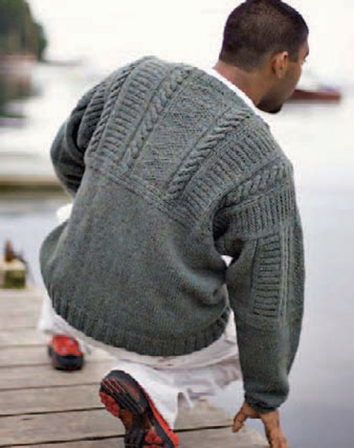 Every guy will love this knitted sweater, so learn how to knit it in this free knitting for men eBook.