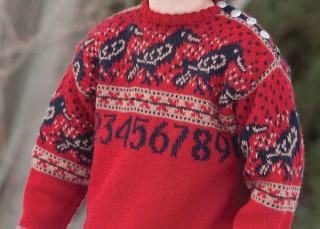 Knitting Patterns Childrens Sweater: Counting Crows by Mary Scott Huff
