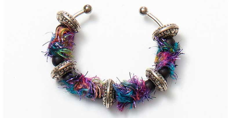 Fiber beads bracelet by Kristal Wick