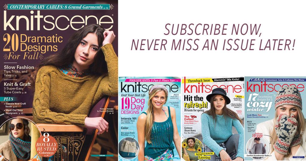 A Glance at the Past Year of <em>knitscene</em> Magazine