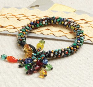 This free kumihimo bead bracelet project is fun and easy for learning how to kumihimo with beads.