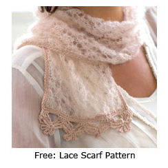 Free pattern lace scarf from feminine knits interweave and of course like any knitter im planning what projects to take with me it may sound daft but my favorite airplane knitting is lace dt1010fo