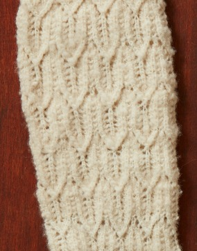 detail of cream lace sock