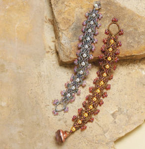 "Learn how to make beaded bracelets with this free beaded bracelet pattern titled, ""Chance for Romance"" by Melissa Grakowsky Shippee."