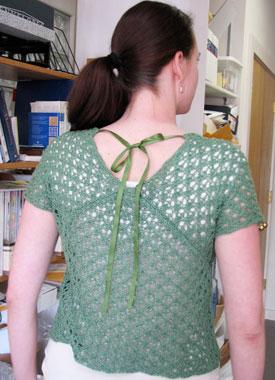 Knitting Gallery - Leaf Kimono Top Erin