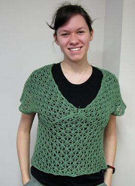 Knitting Gallery - Leaf Kimono Top Katie