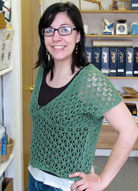 Knitting Gallery - Leaf Kimono Top Stefanie