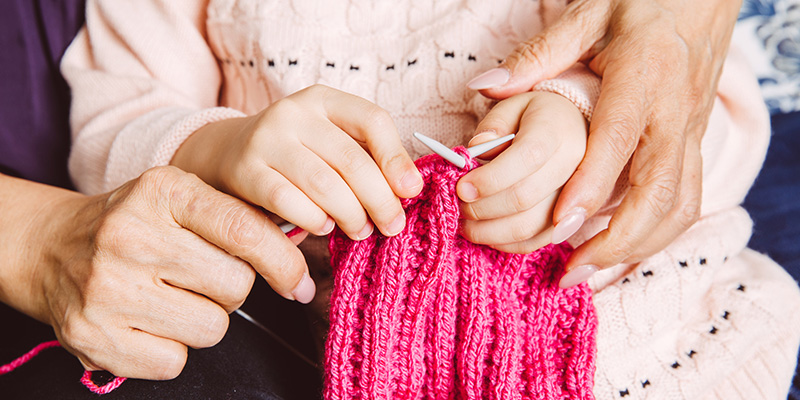 Staff Stories: Learning to Knit with Friends
