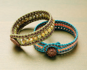 Learn how to make leather bracelets with this amazing wrap-bracelet project in our FREE eBook.
