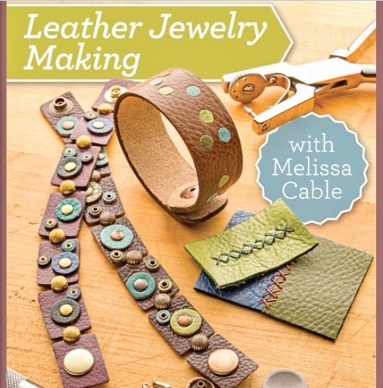 leather jewelry making with Melissa Cable