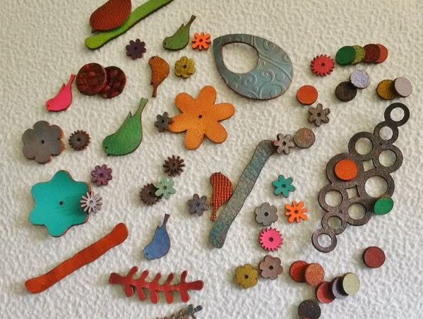 colorful leather jewelry-making supplies from Lilly Pilly