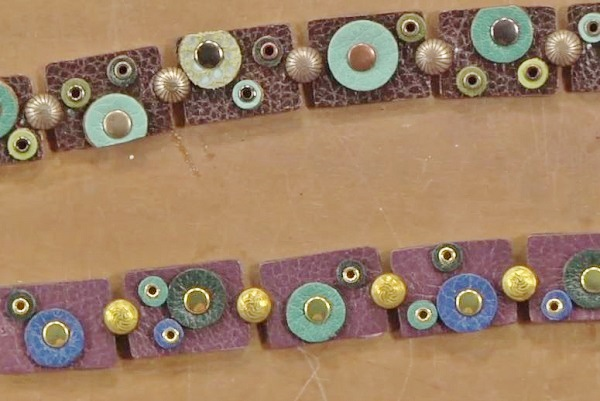 leather jewelry making sampler bracelet