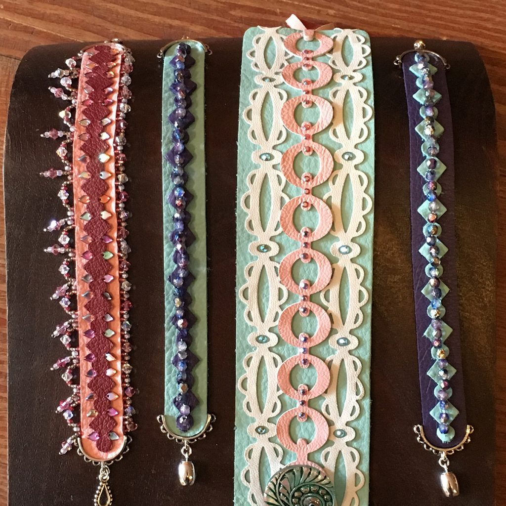Jill MacKay Leather Bracelets and Jewelry Making with Sizzix leather cutting dies