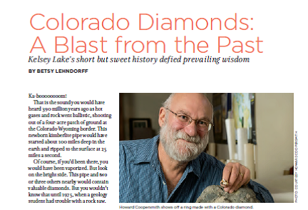 Colorado diamonds by Betsy Lehndorff
