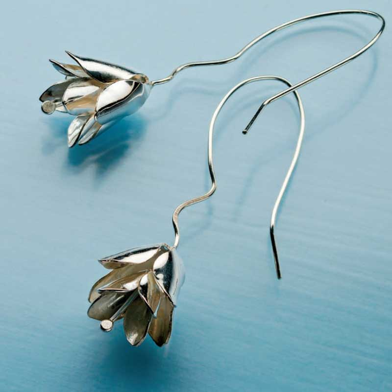 Christina Lemon earrings would make a perfect silver bell ornament.