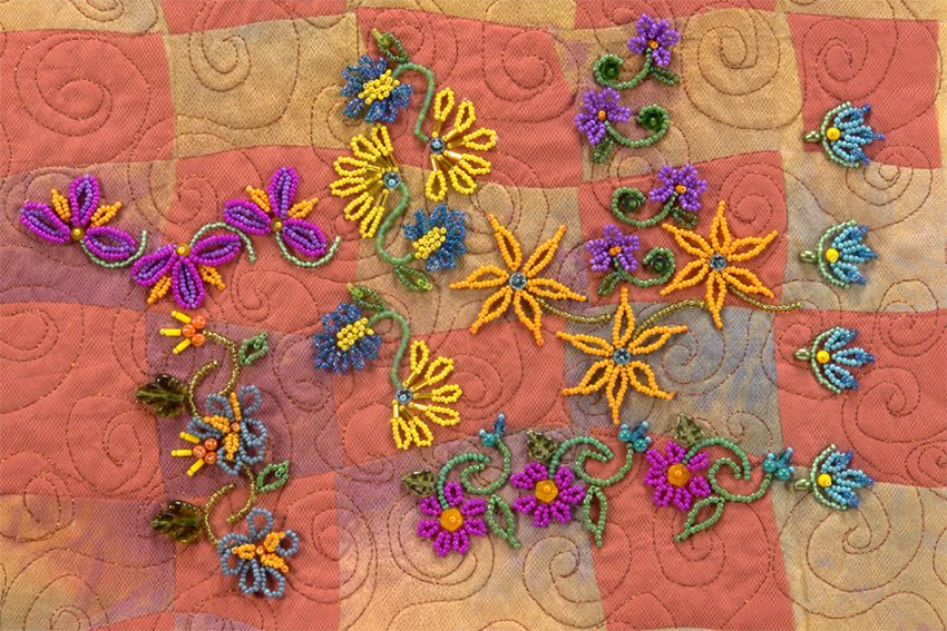 flower petal sampler - seed bead botany