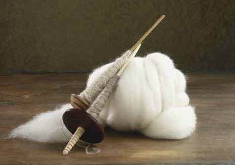 white fiber for spinning