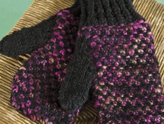 Work these knitted mittens in a linen stitch in our FREE eBook on mitten knitting patterns.