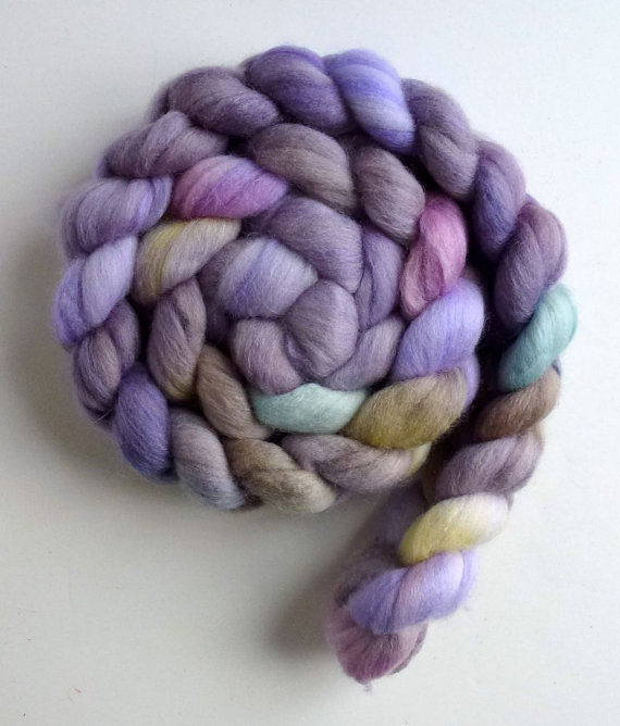 "Three Waters Farm, ""Lisianthus"" colorway. Photo used by kind permission of Three Waters Farm."