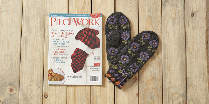 Lithuania-Inspired Floral and Entrelac Mittens Giveaway