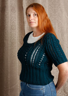 Knitting Gallery - Little Blue Sweater Kat