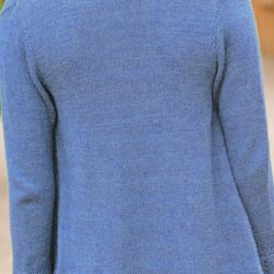 Little Boy Blue color example knit cardigan