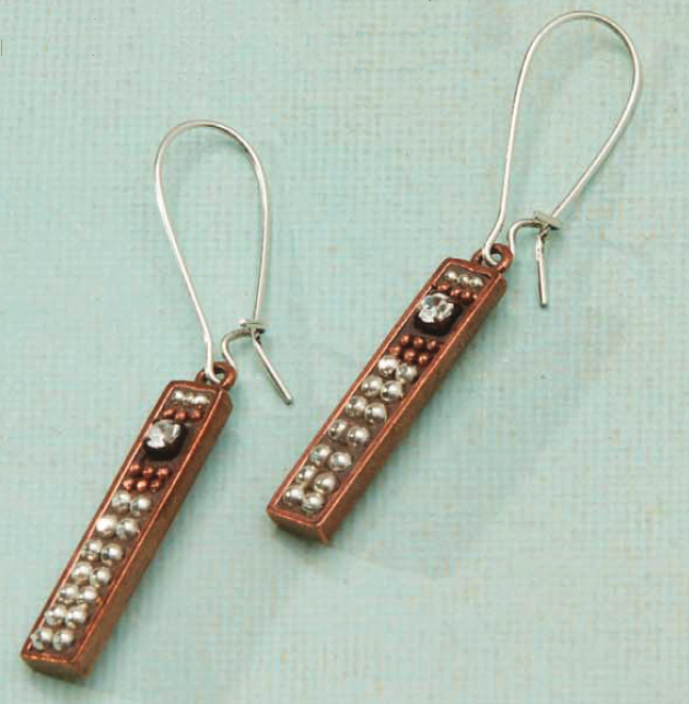 A little Bling Earrings jewelry making Kit, swarovski, Nunn Designs, epoxy clay, Ice Resin