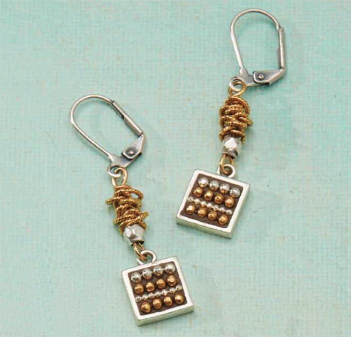 A little Bling Earrings jewelry making Kit, swarovski, Nunn Designs, epoxy clay, Ice Resin