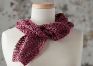 Learn about the crochet spike stitch by crocheting this scarf pattern.