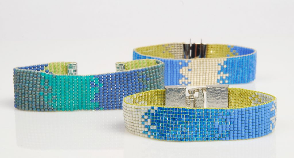 Beading Loom bead woven design, free bead weaving project by Tammy Honaman